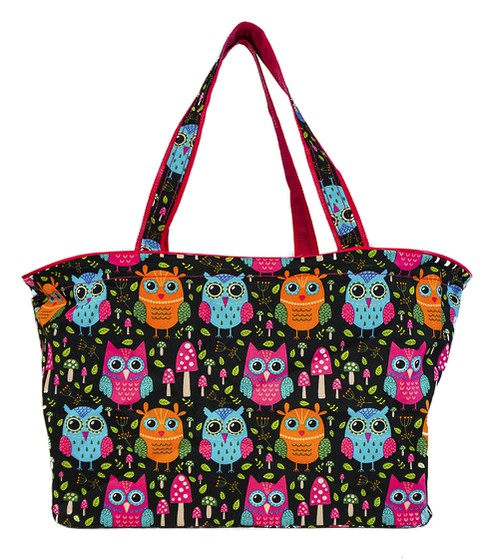 Owl Beach Tote Bag 18 inch - orangeshine.com
