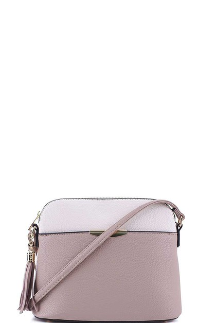 CUTE TWO COLOR MATCH CROSSBODY BAG - orangeshine.com