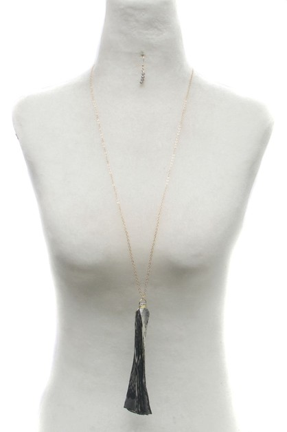 TASSEL LONG  NECKLACE SET  - orangeshine.com