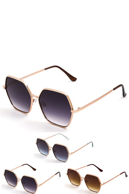 Hexagon Frame Fashion Sunglasses - orangeshine.com