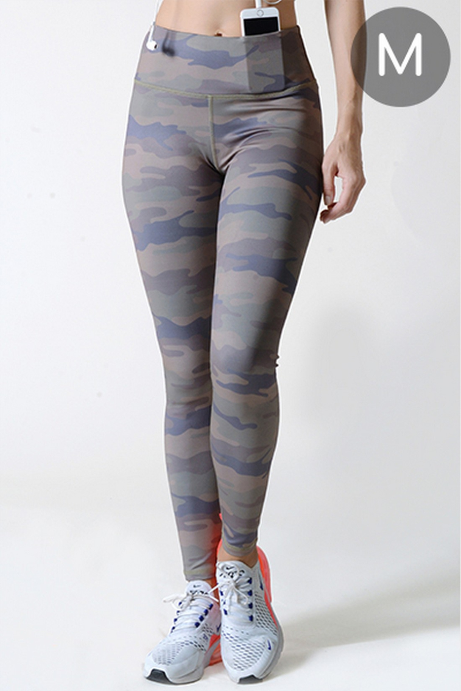 Active High Rise Camouflage Leggings - orangeshine.com