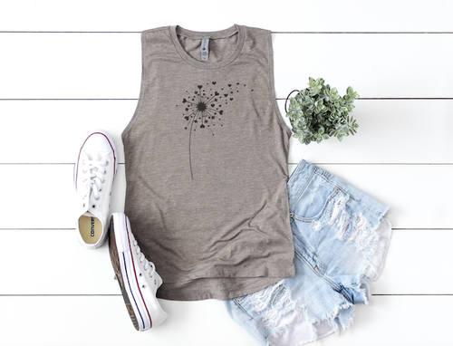 DANDELION MAKE A WISH TANK TOP - orangeshine.com
