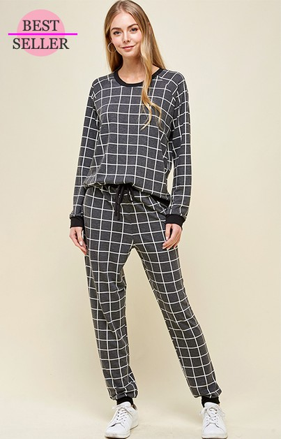 COMFY SOFT TERRY CHECKER SET - orangeshine.com
