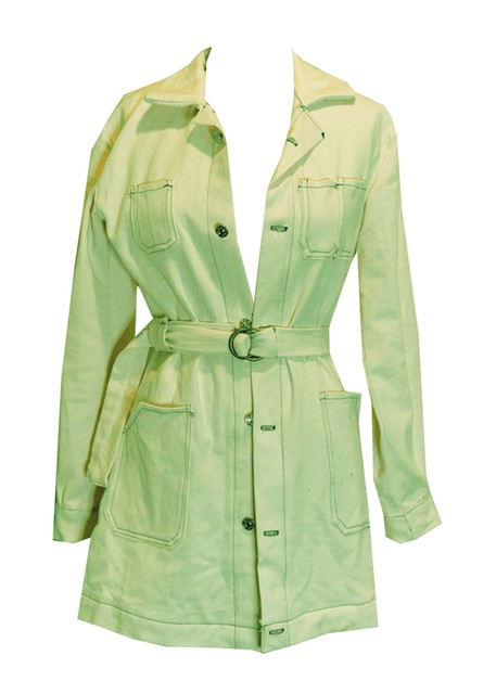 Spring Green Denim Duster Jacket - orangeshine.com