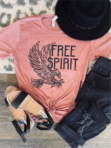 Free Spirit Graphic Tee - orangeshine.com