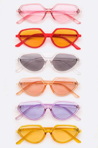 Light Tint Pop Color Iconic Sunglass - orangeshine.com