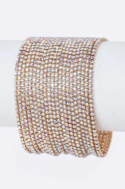 Zillion Layer Rhinestone Bracelet - orangeshine.com