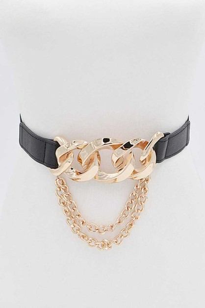 Iconic Chain Link Stretch Belt - orangeshine.com