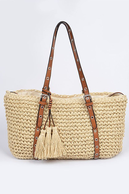 Iconic Straw Tote Bag - orangeshine.com
