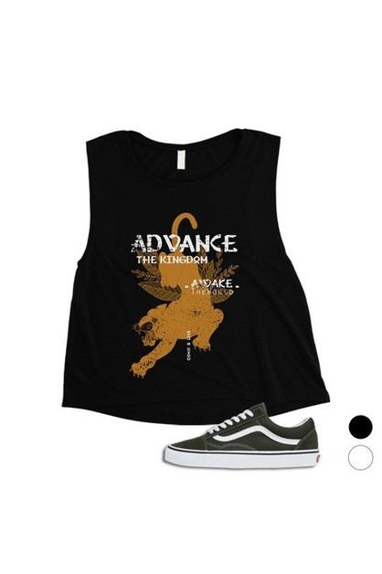 Advance The Kingdom Crop Top - orangeshine.com