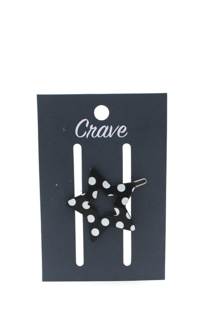 STAR POLKA DOT HAIR CLIP - orangeshine.com