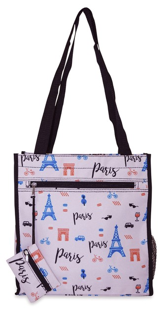 Paris Tote Bag 12 inch - orangeshine.com