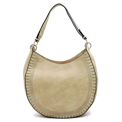 Laser Cut Shoulder Bag Hobo - orangeshine.com