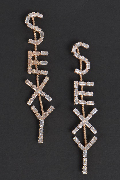 Limestone Sexy letter Earrings - orangeshine.com