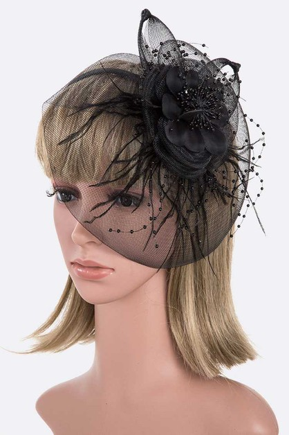 Oversize Flower Fascinator Headband - orangeshine.com