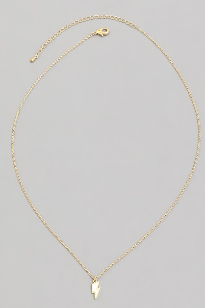 Dainty Lightning Bolt Charm Necklace - orangeshine.com