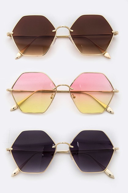 Hexagon Iconic Sunglasses - orangeshine.com