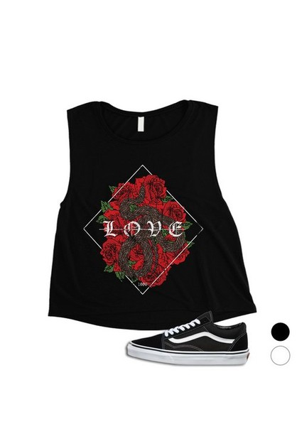 Love Serpent Crop Top - orangeshine.com