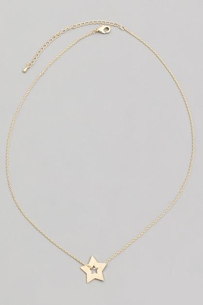 Dainty Star Pendant Necklace - orangeshine.com