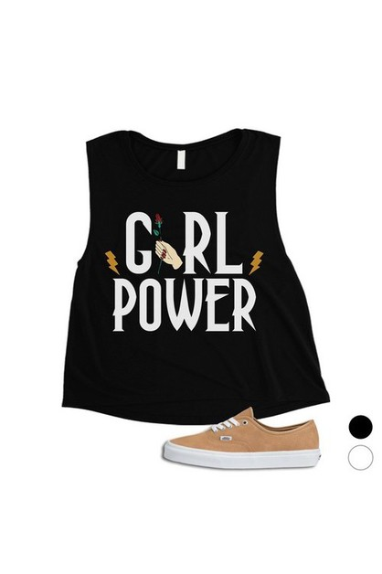 Girl Power Lightning Crop Top - orangeshine.com