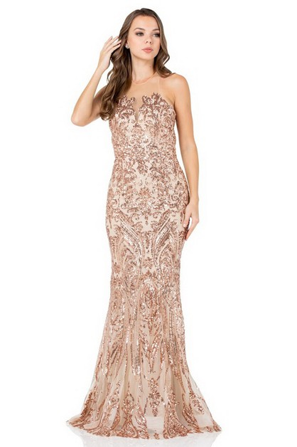 Sequin Evening Dress - orangeshine.com