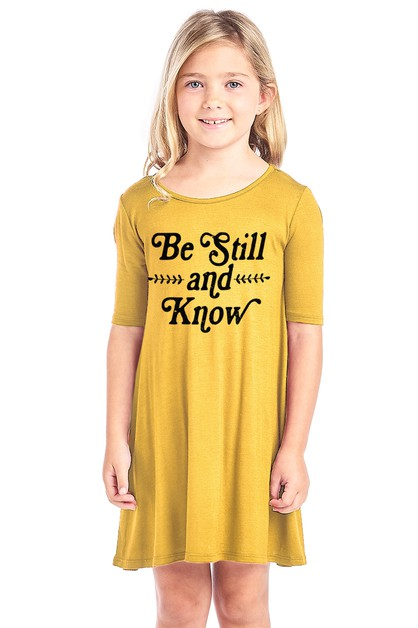 KID SHORT SLEEVE DRESS - orangeshine.com