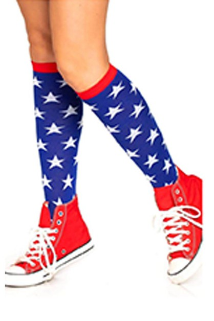 Star Knee High Socks - orangeshine.com