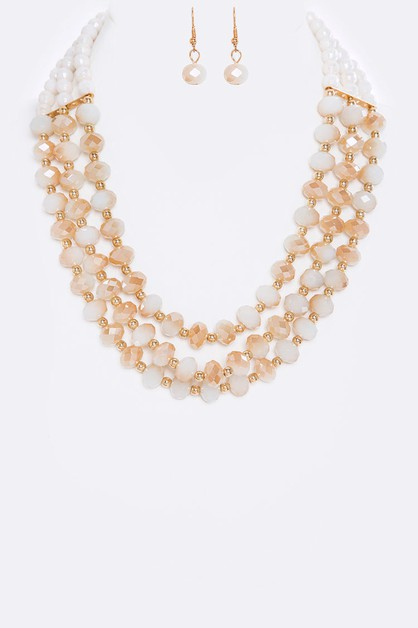 Beads Layer Necklace Set - orangeshine.com