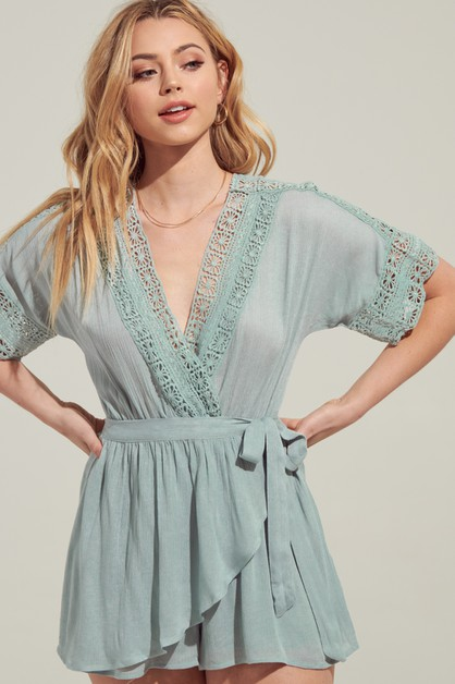 CROCHET WRAPPED ROMPER - orangeshine.com