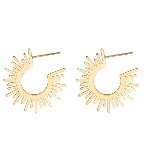 Half Circle Spiked Earring - orangeshine.com