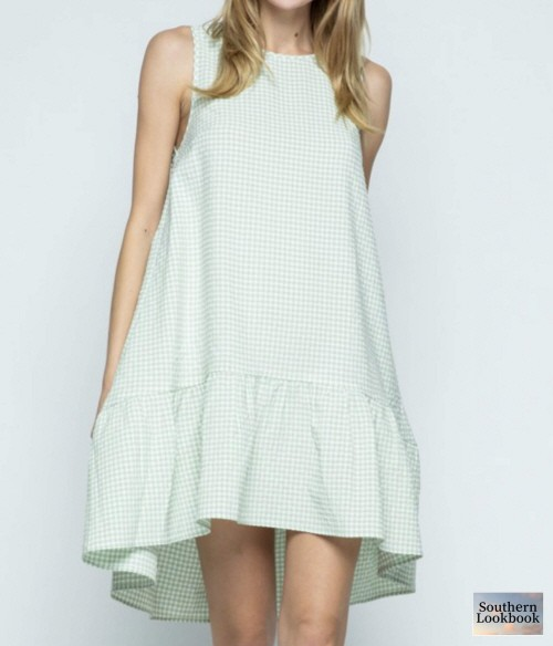 GINGHAM SHIFT DRESS - orangeshine.com