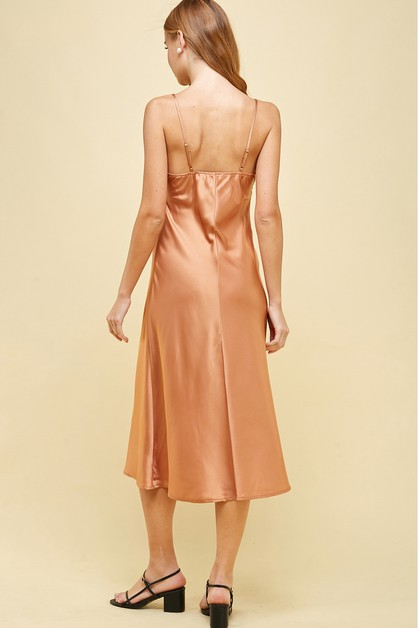 SILKY BIAS  SLIP DRESS  - orangeshine.com
