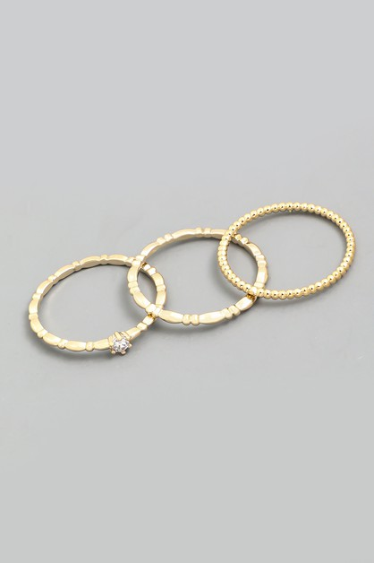 Delicate Design Ring Set - orangeshine.com