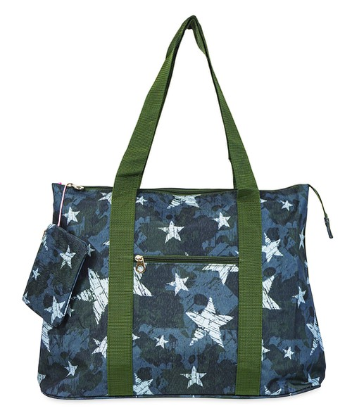 Camo Star Tote Bag 21 inch - orangeshine.com