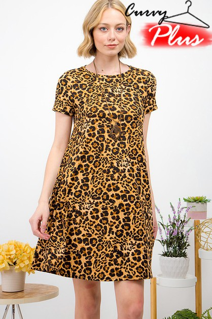 LEOPARD SWING DRESS - orangeshine.com