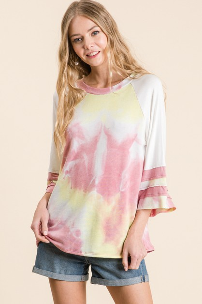 TIE DYE FRENCH TERRY TOP - orangeshine.com