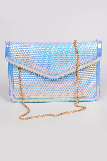 Metallic Patterned Clutch - orangeshine.com