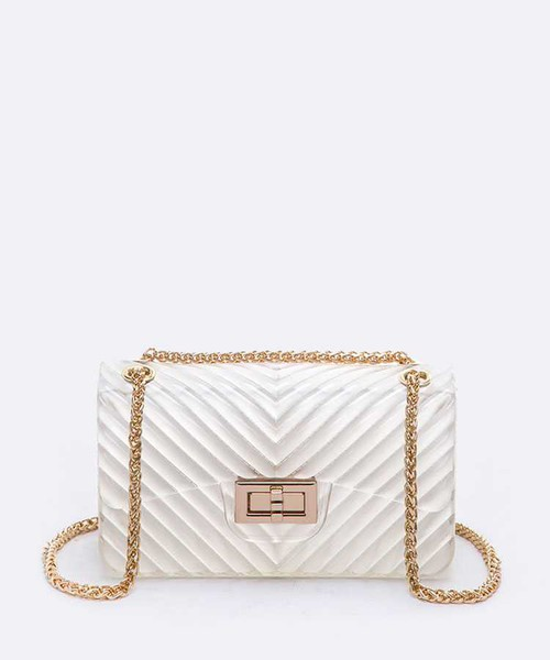 Chevron Embossed Small Jelly Bag  - orangeshine.com