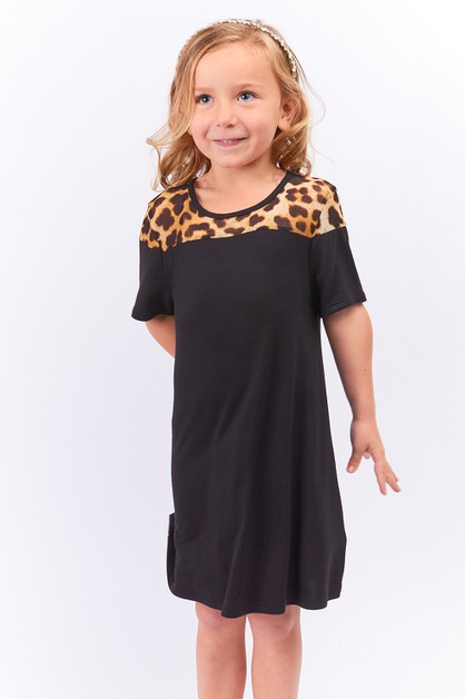 KIDS LEOPARD DRESS - orangeshine.com