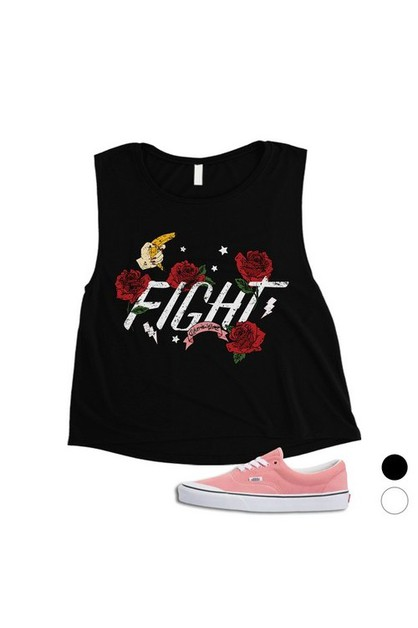 Fight Like A Girl Crop Top - orangeshine.com