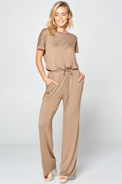 SHORT SLEEVE W/ POCKET JUMPSUIT - orangeshine.com