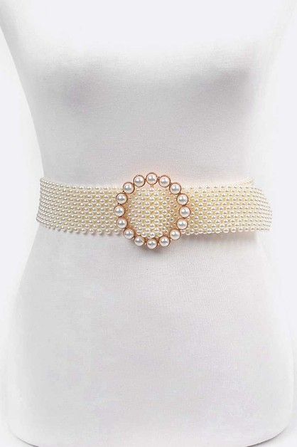 Pearl Buckle Iconic Belt - orangeshine.com