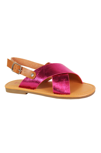 CRESS CROSS FALT OPEN SANDAL WITH BU - orangeshine.com