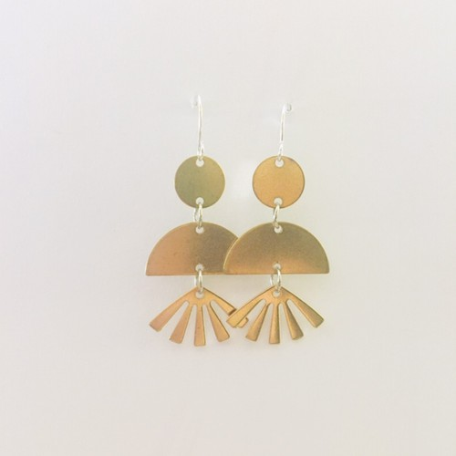 Geometric Fan earrings - orangeshine.com