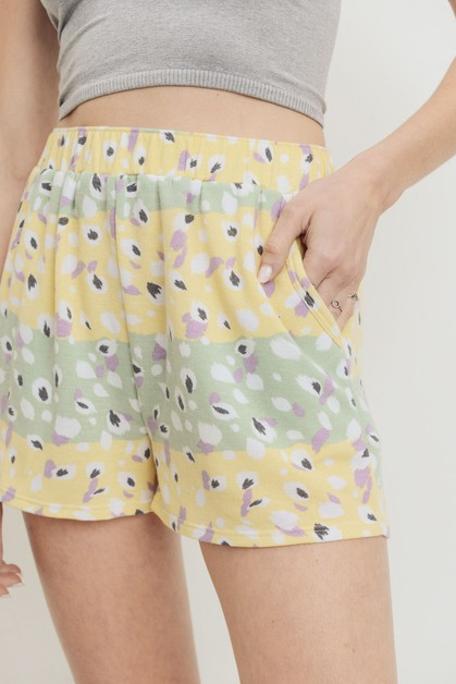 Printed Terry Short Pants - orangeshine.com