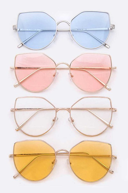 Cat Eye Fashion Light Tint Sunglasse - orangeshine.com