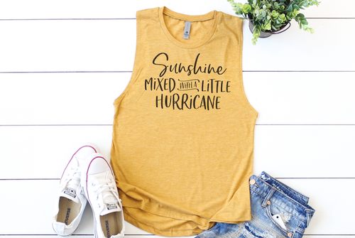SUNSHINE MIXED HURRICANE TANK TOP - orangeshine.com