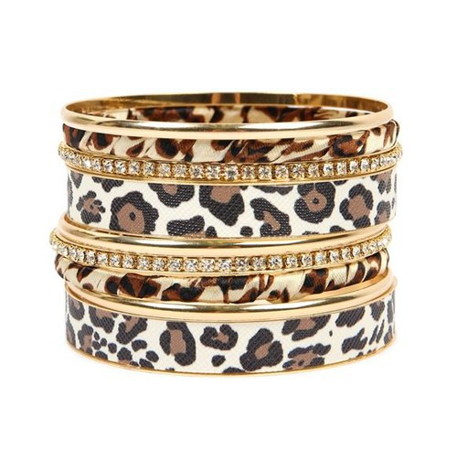 LEOPARD STACKABLE BANGLE BRACELET - orangeshine.com