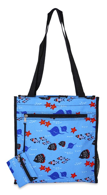 Fish Theme Tote Bag 12 inch - orangeshine.com