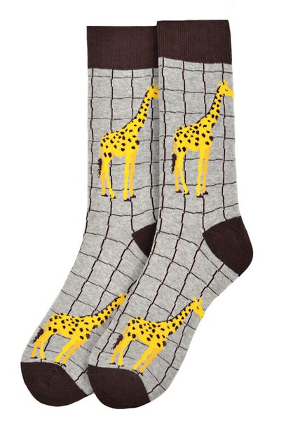 Mens Giraffe Novelty Socks - orangeshine.com